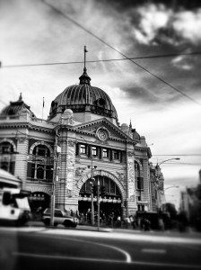 City view of Flinders Street Melbourne