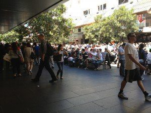 c) Gayle Howard. Bourke Street Mall on Boxing Day Sales