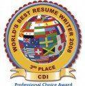 World Resume Writing Contest: Place Winner!