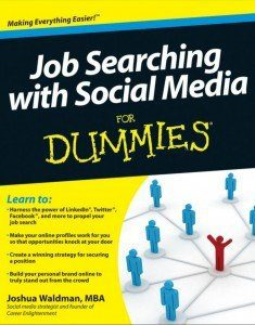 Book Cover Job Searching with Social Media for Dummies