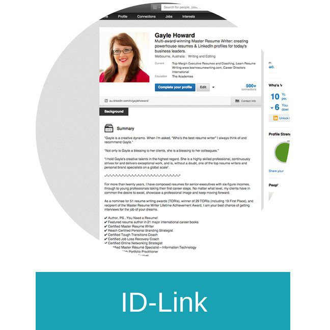 ID LINK (LinkedIn)  Create Resume From Linkedin