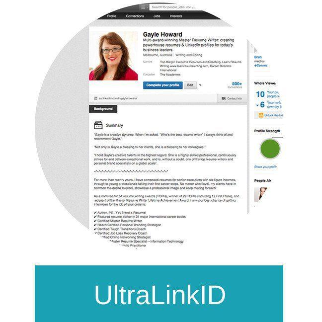 ultralinkid  linkedin profile      topmargin com